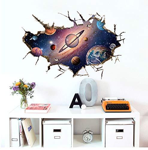 PANDABOOM Pegatinas De Pared De La Nave Espacial 3D para Habitaciones De Los Niños Calcomanías para Niños DIY Dormitorio Decoración De La Pared De PVC