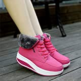 UFACE Frauen Freizeit Plus Velvet Bottom Sportschuh Wedges Thick Bottom Damen Sneakers Vergleich