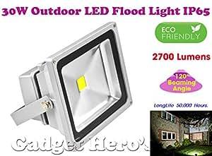 Gadget Hero's™ 30W LED Outdoor Flood Light White Focus Waterproof IP65 SMD Bulb 30 Watt 240V 50,000 Hours Long Life.