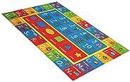 بساط لعب للأطفال الرضع الناعم القابل للطي مقاس 80 × 150 سم من أندور بألوان الحيوانات والحيوانات الملونة المضاد