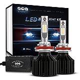 #2: SEALIGHT LED Headlight Bulbs H11/H8/H9 Conversion Kit ( DOT Approved ) SEALIGHT X2 Series DRL Low beam/Fog Light Bulbs - 16x CSP Les Auto Headlight LED Bulbs-8000LM 6000K Xenon White