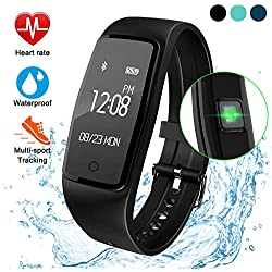 ITSHINY Montre Connectée, Bracelet Connectée Tracker d'activité étanche avec Moniteur de fréquence Cardiaque Moniteur de Sommeil Bluetooth GPS Suivi podomètre Compteur de l'exercice d'entraînement