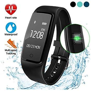 ITSHINY Pulsera Actividad Hombre Mujer, Pulsera Actividad Inteligente Reloj Pulsómetro Impermeable IP68 Podómetro Pulsera Deportiva