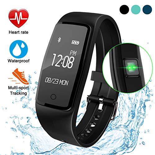 ITSHINY Activity Tracker IP67, Orologio Fitness Tracker Cardio Contapassi Cardiofrequenzimetro da Polso Braccialetto Bluetooth Impermeabile IP67 per Outdoor Corsa e Ciclismo, Bracciale Smartwatch
