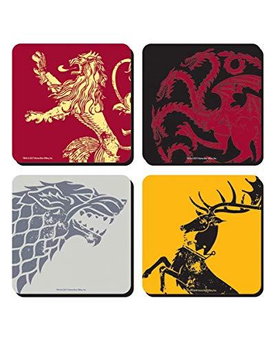 Posavasos con emblemas de las casas