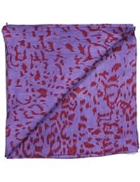 "Superfreak® Baumwolltuch ""Leopardenmuster"" Bandana°Tuch°Schal°55x55 cm°100% Baumwolle, Farbe: lila/rot"