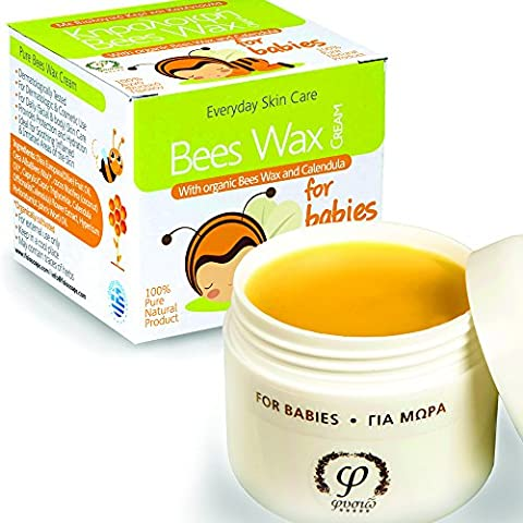 Natural Nappy Cream - Baby Moisturiser - with Organic Beeswax, Extra Virgin Olive Oil , Organic Coconut Oil, Organic Calendula & St. Jonh's Wort Oil - For Face & Body - 50ml - Protects And Cares From The Causes Of Diaper Rash And Gently Helps to Maintain Healthy