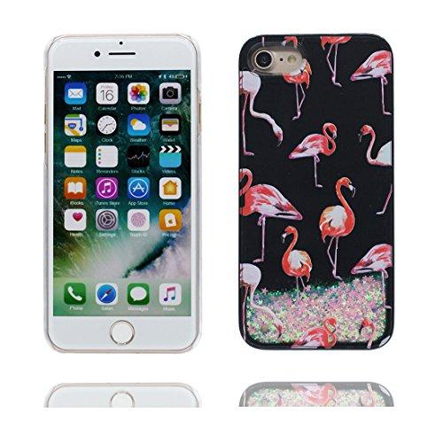 Coque iPhone 7 Plus, [Bling Bling Glitter ] iPhone 7 Plus étui Cover (5.5 pouces), Fluide Liquide Sparkles Sables, iPhone 7 Plus Case anti- chocs bleu # 7