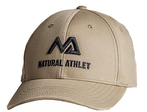 Natural Athlet Herren Basecap - Snapback Cap in Beige - Männer Freizeit Kappe Verstellbar für Fitness, Sport, Gym & Training