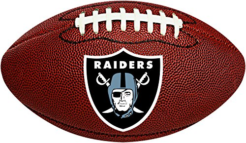 Dekorativer Logo-Ausschnitt Oakland Raiders Fußballform ()