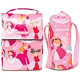 The Piggy Story 'Enchanted Princesses' Insulated Wipe-Clean GoGo Lunch Sack And Bottle Bag Set For Kids