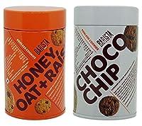 Barista Cookie Tin, 100 Gm Pack of 2 (Honey Oat Raisin, Choco Chip)