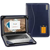 Broonel - Contour Series - Blue Heavy Duty Vegan Leather Protective Case Cover for theHP 250 G6 Notebook, Intel Celeron N3060, RAM 4 GB, SSD 128 GB M.2