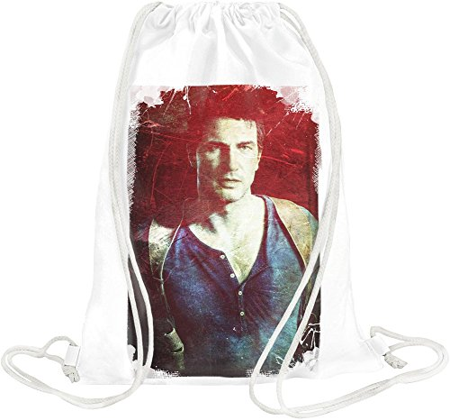 Uncharted 4 Nathan Drake Portrait Borsa morbida