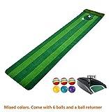 adahill (TM) interior juego de Golf Putter entrenador práctica formación Mat Indoor Mini Golf Putting verde, Mixed Color Returner