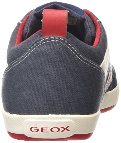 Geox Jr Kiwi Boy i, Scarpe Low-Top Bambino Azzurro (Blue/Red)