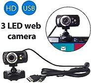 كاميرا ويب عالية الدقة من DishyKooker USB مع ميكروفون للكمبيوتر والكمبيوتر المحمول وجودة سطح المكتب والمنتج ال