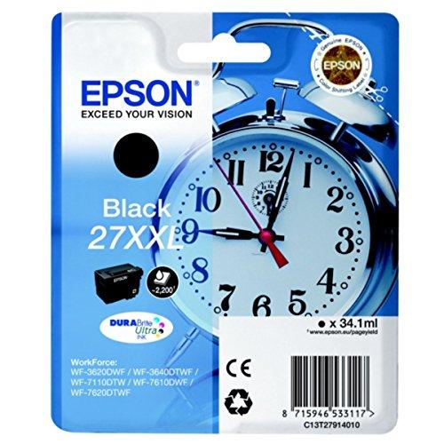 Preisvergleich Produktbild Epson original - Epson WorkForce WF-7610 DWF (27XXL / C13T27914012) - Tintenpatrone schwarz - 2.200 Seiten - 34, 1ml
