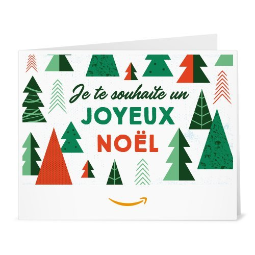 Chèque-cadeau Amazon.fr - Imprimer - Sapins de Noël