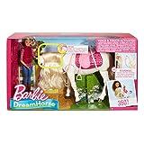 Mattel Barbie FRV36 - Traumpferd und Puppe, laufendes Pferd mit Berührungs- und Geräuschsensoren für Mattel Barbie FRV36 - Traumpferd und Puppe, laufendes Pferd mit Berührungs- und Geräuschsensoren