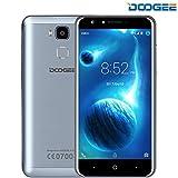 Handy Ohne Vertrag, DOOGEE Y6 fingerprint smartphone 5.5 'HD Scharfe Anzeige 4G + SmartTelefon 1280 * 720 8MP Vordere Kamera mit Blitz 2GB + 16GB Android 6.0 MTK6750 Octa-Kernprozessor 360 ° Fingerabdruck-Sensor(Blau)