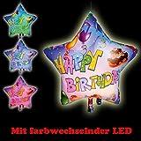 LED-Folienballon Happy