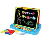 Toys Bhoomi Educational Double-Sided Kid's Portable Writing Board for Kids Learning Easel with Magnetic Drawing WhiteBoard & Writing Blackboard