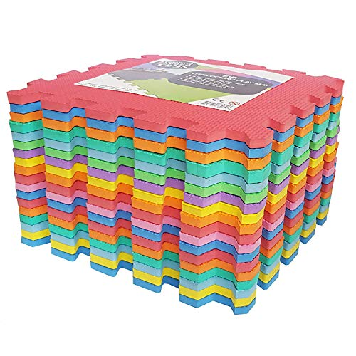 Stomping Ground Toys 9 Alfombras Puzzle EVA Coloridas Alfombras de Foam Encajables para Actividades Infantiles en el Piso