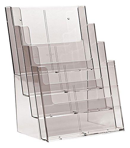 Taymar, Vierstufiger Präsentationsständer für A4/DL Prospekte 1 Stück farblos