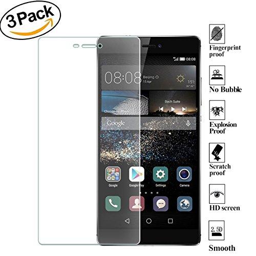 ZEEREE [3 Pièces] pour Huawei P8 Film de Protection D'écran, Ultra Résistant Dureté 9H Film Protecteur Ecran Verre Trempé pour Huawei P8 (5,2 Pouces)