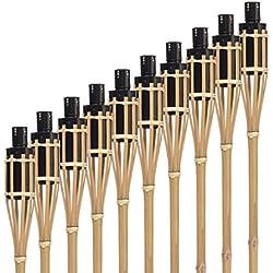 Hussala Turin Aceite Antorcha de bambú 100 cm [10 unidades]