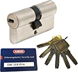 ABUS EC660 Longueur de double cylindre (a/b) 30/50mm (c=80mm) 6 clés, avec Carte de Sécurité