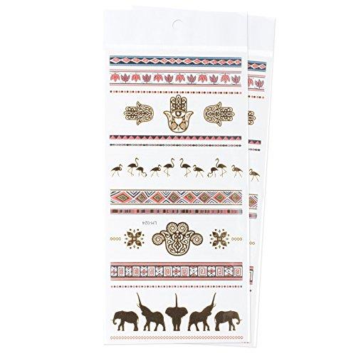 zookyr-braccialetto-e-simboli-elefante-fenicottero-gioielli-tatuaggi-temporanei-impermeabili-adesivi