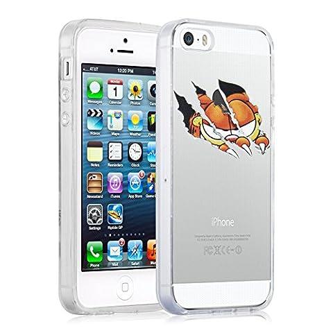 Coque iPhone SE Coque iPhone 5 5s coque silicone transparente | JammyLizard | Coque iPhone 5 dessin Coque dessin iPhone 5 Coque transparente trompe l'oeil pour iPhone SE et iPhone 5 5s,
