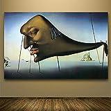 NIMCG Tigre Noir et Blanc Toile Peinture Wall Art Photo animalière pour Salon Impression sur Toile décoration Moderne (sans Cadre) A2 30x45CM...