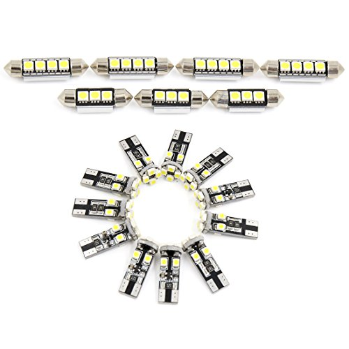 sourcingmap 18x für E60 / E61 5Serie 1999-2006 Canbus Weiß LED Auto Innenbeleuchtung Kit