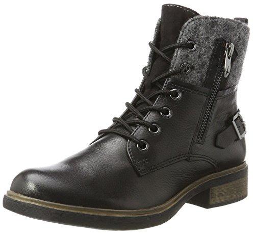 Tamaris Damen 25140 Combat Boots, Schwarz (Black), 37 EU (Canvas-boot)