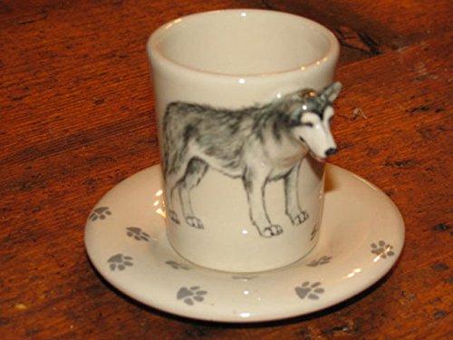 Hi-Life Living Nature Siberian Husky Espresso Kaffeetasse, Blue Witch Ceramics, 3D