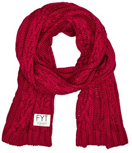 FYT & CO Cable - Echarpe - uni - Mixte Rouge (Burgundy)