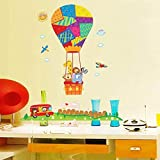 Cute Animal Balloon Height Measure Wall Stickers for Kids Boys Girls Room Decor Growth Chart Sticker on Wall for Kids 10