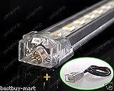 4x LED Streifen Strip Licht Alu Starre Lichtleiste Interior Bar Lampe Wasserdicht IP54 DC12V 50CM 30LED SMD5050 für Hause Aquarium Auto Schrank Weiß