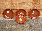 Terracotta Tapas Dish, Set of 4 x 14cm