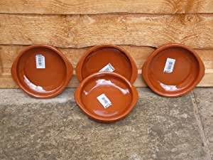 Terracotta Tapas Dish, Set of 4 x 14cm
