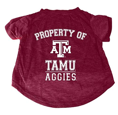 Sparo NCAA Hunde-T-Shirt Property of, Texas A&M Aggies, Large -