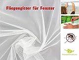 MadeInNature Fliegengitter für Fenster Insektenschutz/Zuschneidbares Moskitonetz/Weiß, Grau, Schwarz, hält klarheit/abmessungen zu wählen (Weiß, 300x150 cm)