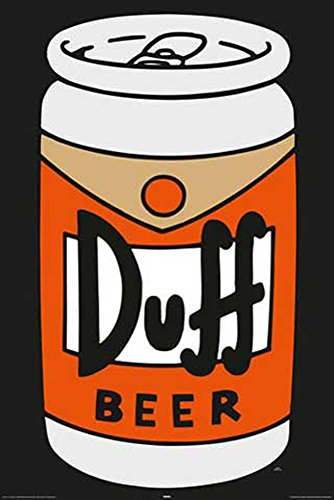 Poster i Simpson, Duff Can + accessori ohne rahmen