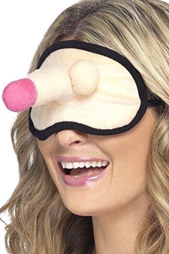 Smiffys, Damen Junggesellinnenabschied Augenmaske mit Plüsch Willy, One Size, Nude, ()