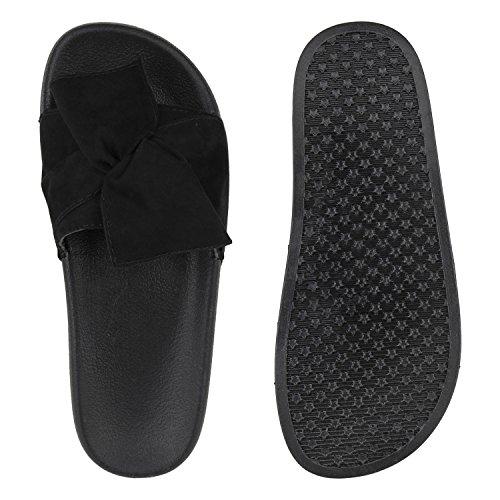 Strass Sandálias Verão Borboleta Flores Sapatos Senhoras Mulas De Preta xwqgYXBY