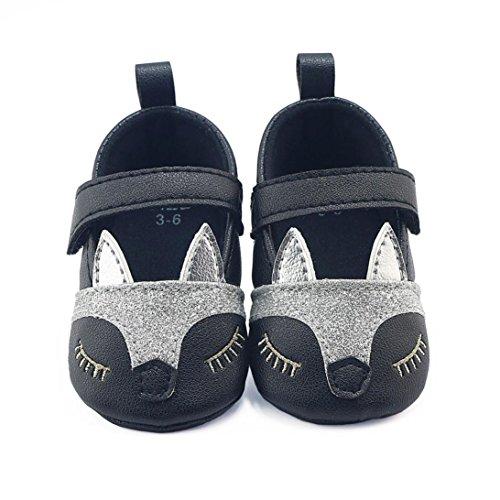 Chaussures bébé,Xinan Chaussures Fille Cuir Souple Chaussures premiers pas Dessin Animé 0-18Mois