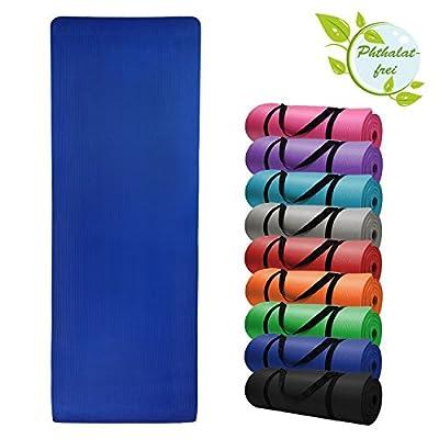 BB Sport Yoga-Matte Yjuna 180 cm x 60 cm x 1.5 cm Yogamatte rutschfest phthalatfrei für Gymnastik Turnen Pilates extra dick